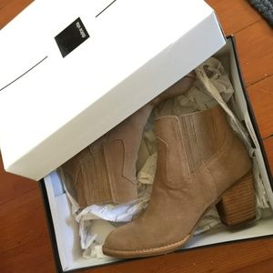Dolce Vita Jethro Booties in Taupe Tan Suede - 6